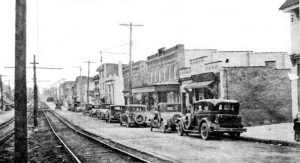 This 1928 photograph depicts the Boulevard Theater, which was refurbished by Warner Bros. in 1937. It is the second building from the right. Photo courtesy of Brookline Connection.