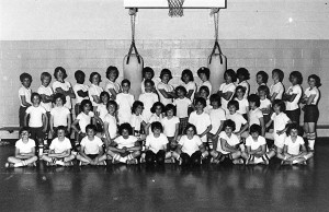 "The Brookline Boxing Club during its 1977/1978 season. The club, commonly known as ""Charlie's Angels,"" ran from 1971 to 2003.  Photo courtesy of Brookline Connection."