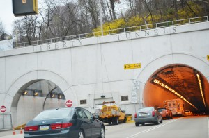 The Liberty Tunnels provide citizens an easy way to travel between Pittsburgh and the surrounding South Hills areas, including Brookline. Photo by Leah Devorak.