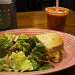 """A fruit and nut salad, mesquite turkey sandwich and """"Sunrise Suzy"""" from Red Oak Cafe."""