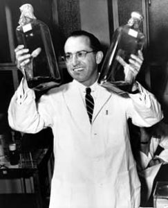 Public Doman Photo Salk at the Univeristy of Pittsburgh, where he developed his vaccine